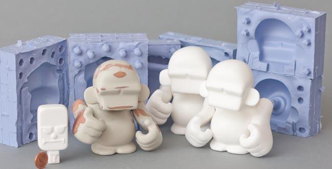 Designer Toys herstellen 2.0 - Erste Abgüsse